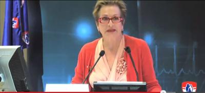 Mme Gwen Nacos a présenté le discours annuel du directeur général